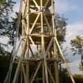 Montáž vyhliadkovej veži Brezová pod Bradlom