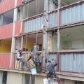 Demontáž opláštenia budovy Ostrava