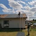Montáž drevodomu vrátane strechy RD Kozárovce