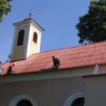 Náter strechy kostola Zlaté Moravce
